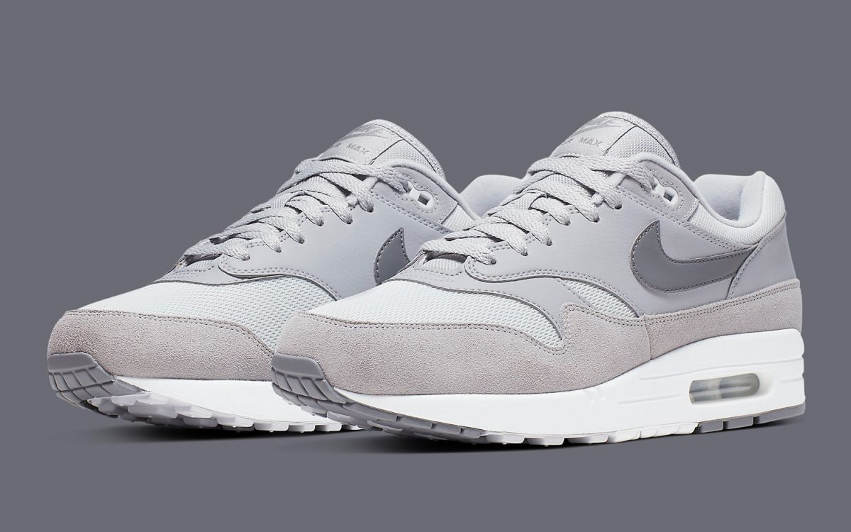 "Available Now // The Air Max 1 Looks Cool As in ""Cool Grey"" 😎"