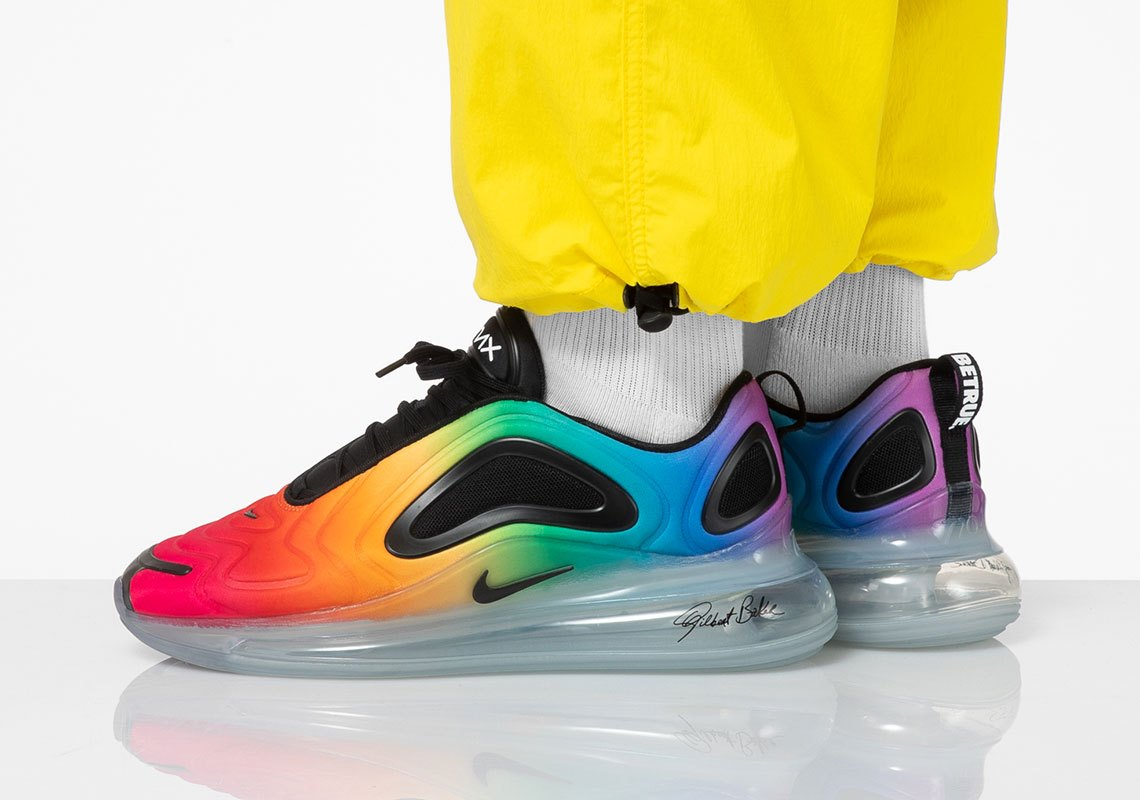 The Nike Air Max 720 Be True Honors Gilbert Baker S Lgbt Rainbow