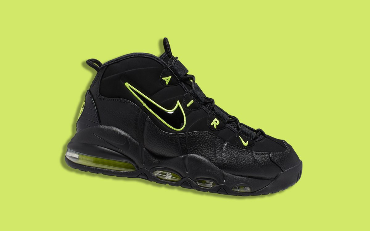 6a81710965 The Air Max Uptempo Checks Back in with a Classic Black/Volt Colorway