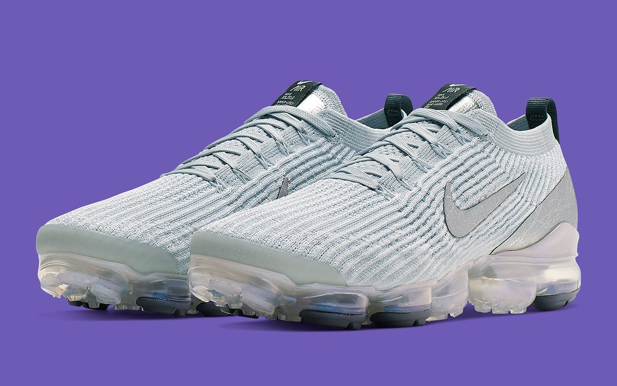 Available Now // The VaporMax Flyknit 3 Appears with Purple Iridescent Pops!