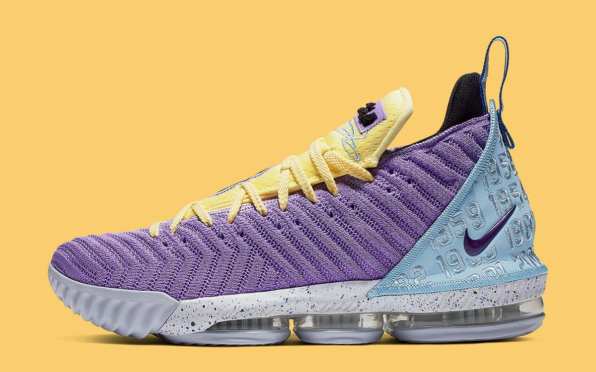hot sale online 0ca4e 37504 This New Nike LeBron 16 Celebrates All 16 Lakers ...