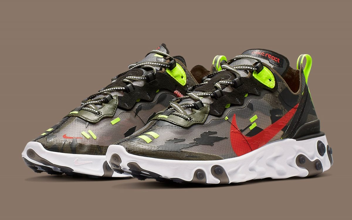 Available Now // Nike's Adds Hunting-Themes to it's React Element 87