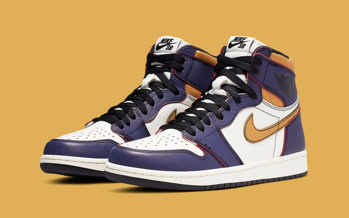 Official Looks at the Lakers/Chicago-Themed Nike SB x Air Jordan 1 High