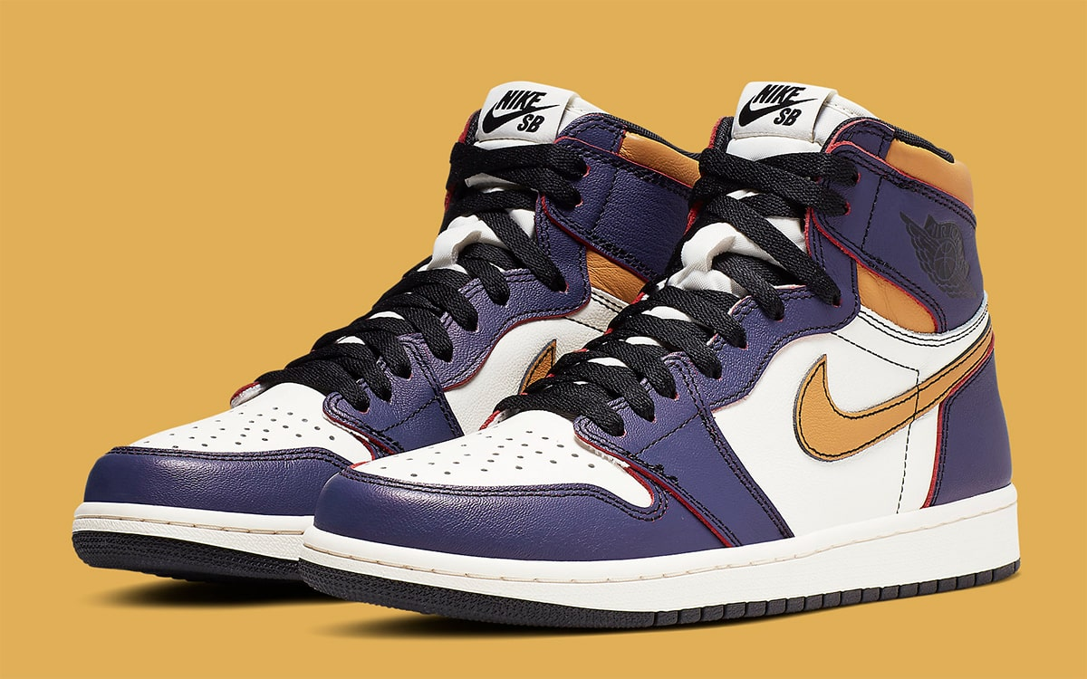 9d2ee861 Official Looks at the Lakers/Chicago-Themed Nike SB x Air Jordan 1 ...