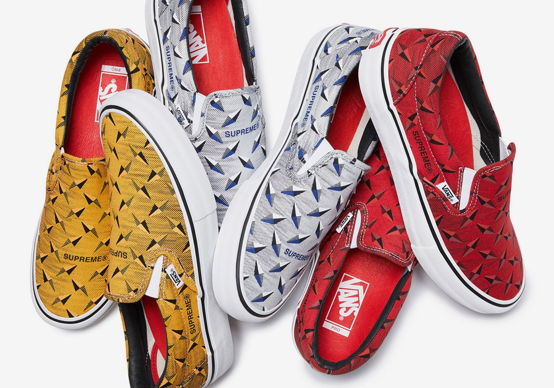 Vans and Supreme Reveal Their SS'19 Sk8-Hi and Slip-On Collaborations