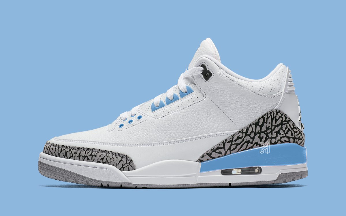 "Air Jordan 3 ""UNC"" to Release During March Madness"