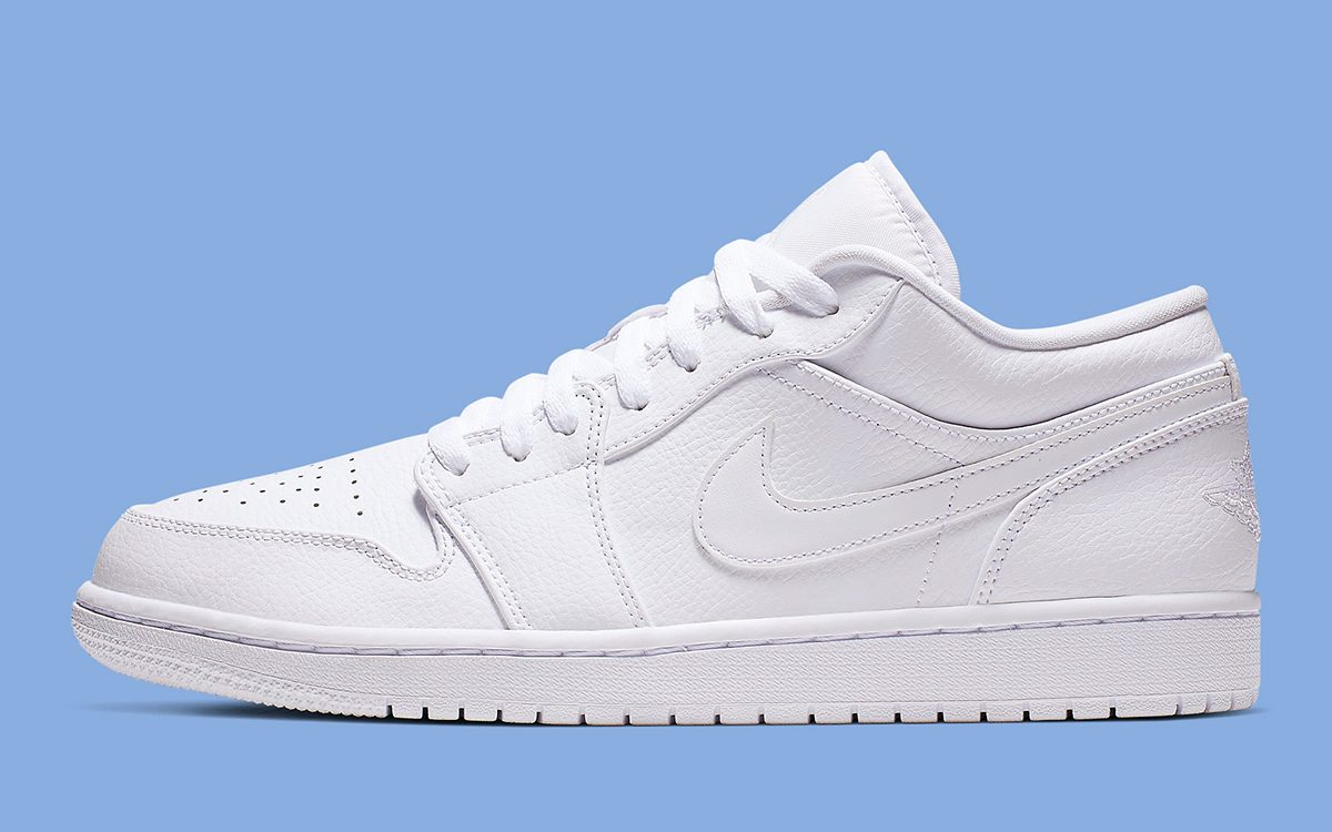 "Available Now // Air Jordan 1 Low ""Triple White"""