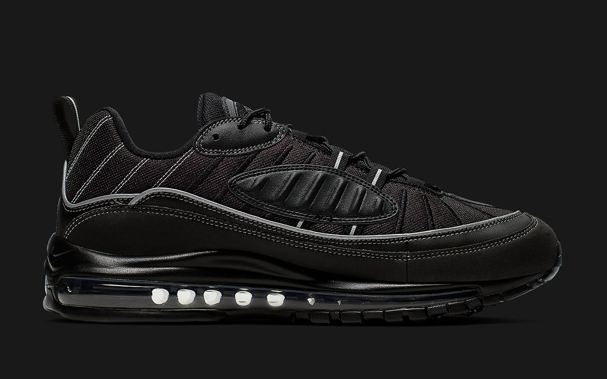 buy online a4648 ff5bc Available Now // Nike Drop a Two-Pack of Black Air Max 98s ...