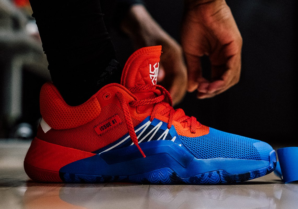 Marvel and adidas to Launch Donovan Mitchell's Signature Sneaker with a Four-Pack of Spider-Man-Themed Colorways