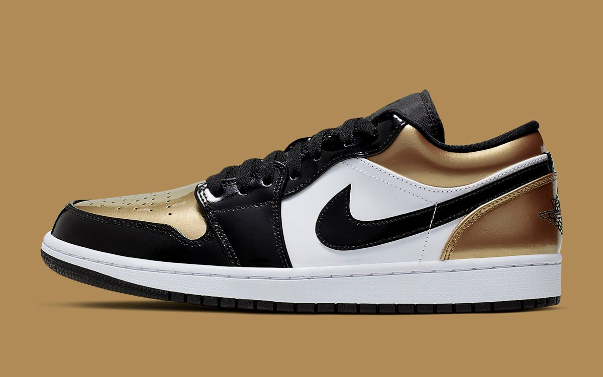 "Air Jordan 1 Low Patent ""Gold Toe"" to Release this Summer"