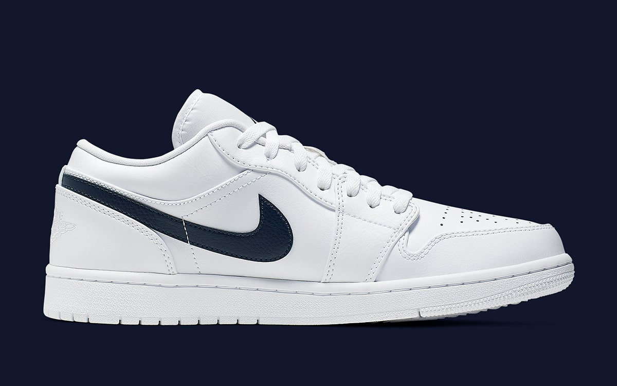 new concept b3e63 41fbd Navy Swooshes are Next-Up for the Air Jordan 1 Low - HOUSE ...