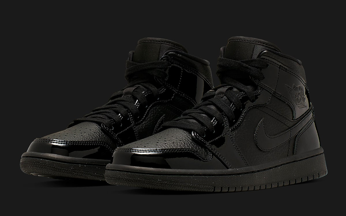 ccd07ebe579 Triple Black Ladies-Exclusive Air Jordan 1s Rock Tumbled Leather ...