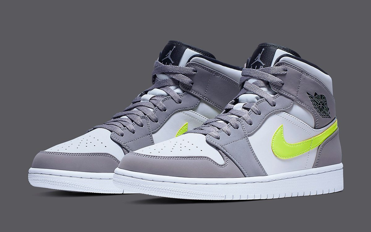 Available Now // Jordan Add Volt Swooshes to the Air Jordan 1 Mid