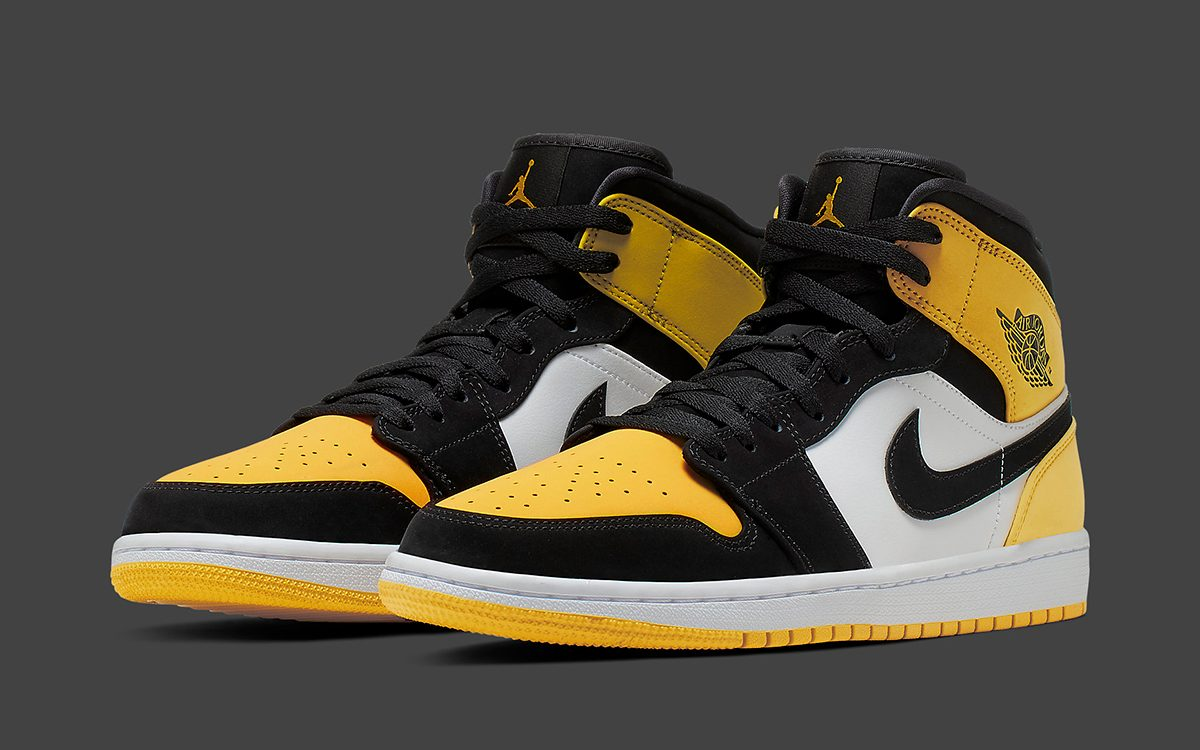 "Available Now // Jordan Brand Drop a Mid-Cut ""Yellow Toe"" Air Jordan 1"