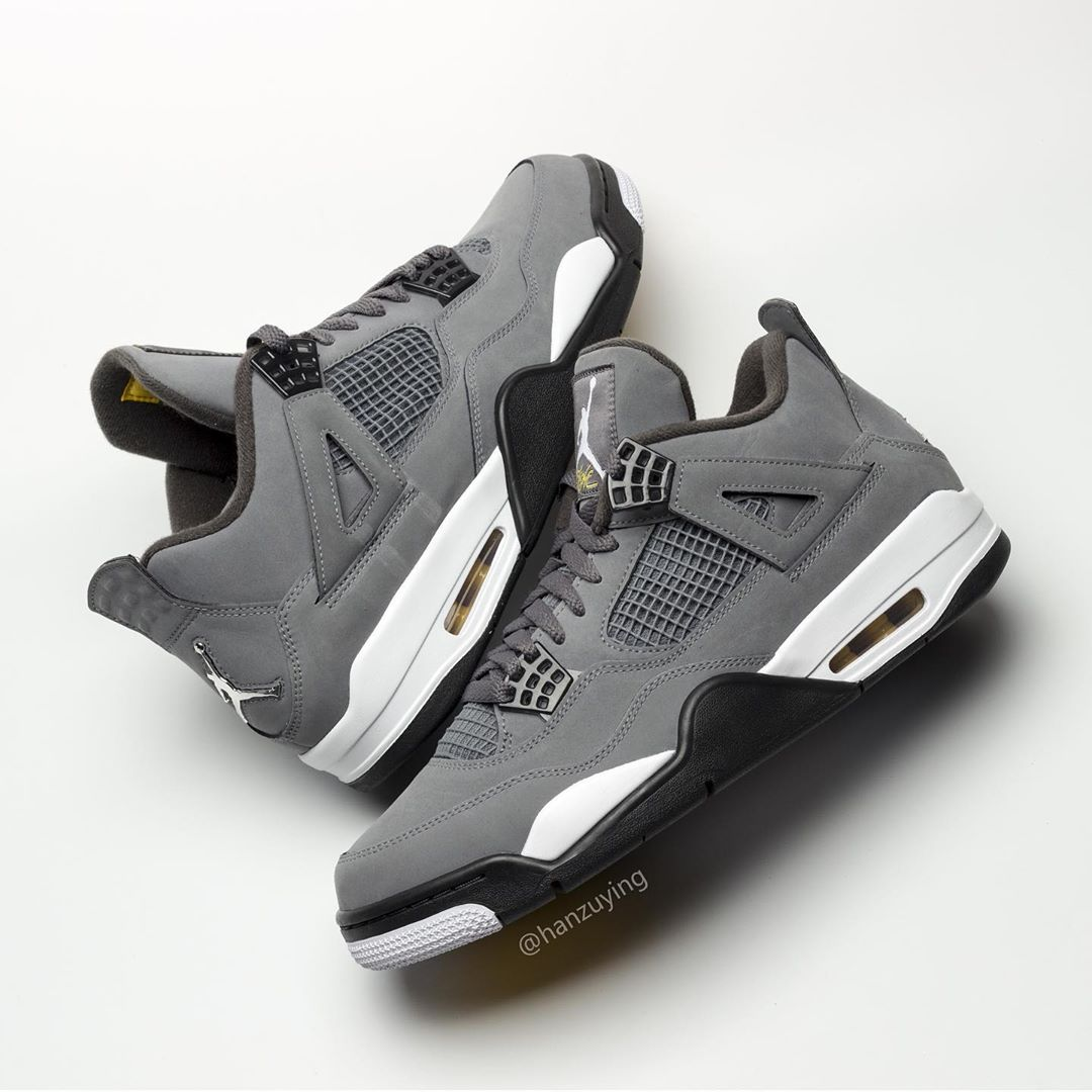 "size 40 273d5 22131 Air Jordan 4 ""Cool Grey"". Color  Cool Grey Chrome-Dark Charcoal-Varsity  Maize Release Date  August September 2019. Price   190"