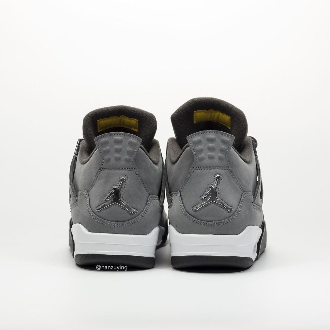 """size 40 273d5 22131 Air Jordan 4 """"Cool Grey"""". Color  Cool Grey Chrome-Dark Charcoal-Varsity  Maize Release Date  August September 2019. Price   190"""