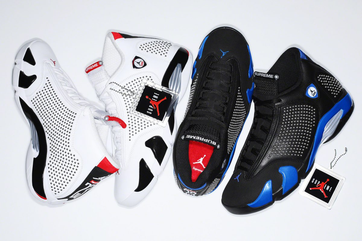 The Supreme x Air Jordan 14 Collection Releases Tomorrow