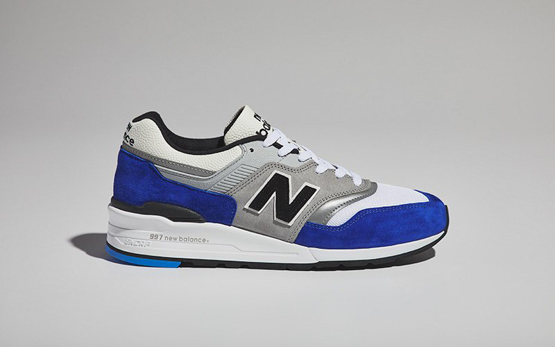Available Now // New Balance 997 in Royal and Grey