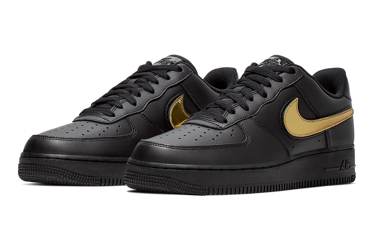 Available Now Removable Metallic Gold Swoosh Air Force 1 Low