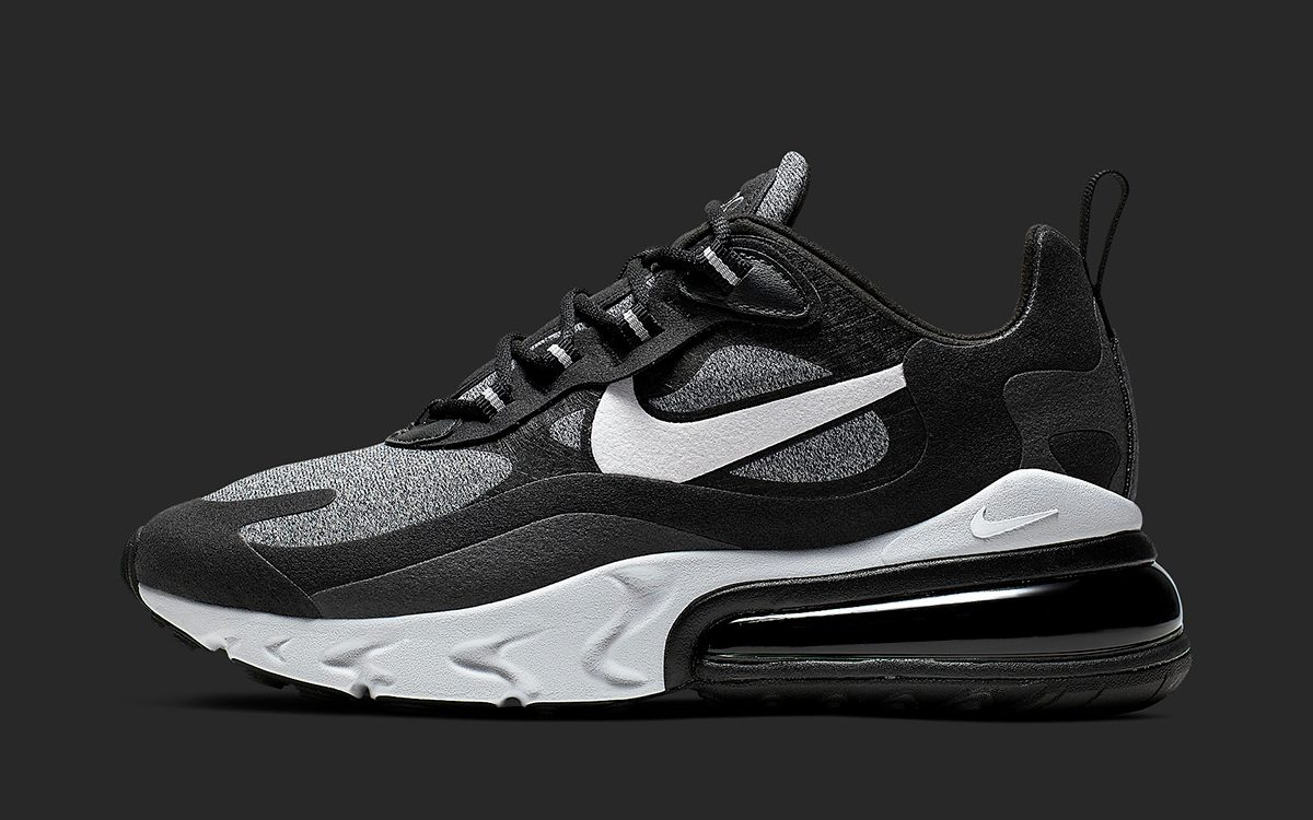 more photos 4f3bd 54f8a A Nike Air Max 270 React to Fit the Masses in Basic Black ...