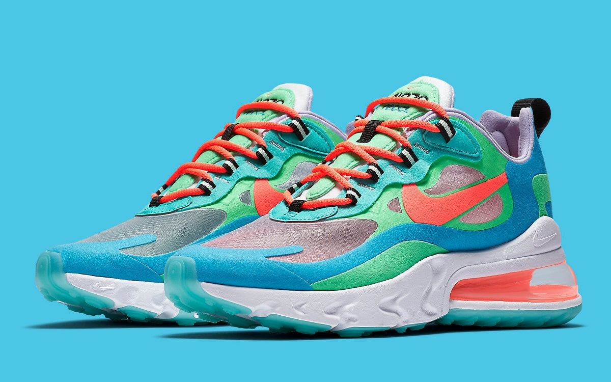online store 0a2e7 7d9a0 This Trippy Nike Air Max 270 React Tacks on Translucent ...