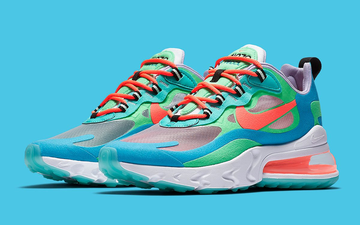 This Trippy Nike Air Max 270 React Tacks on Translucent Uppers