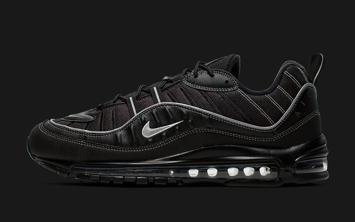 buy online a2b30 b83f3 Available Now // Nike Drop a Two-Pack of Black Air Max 98s ...