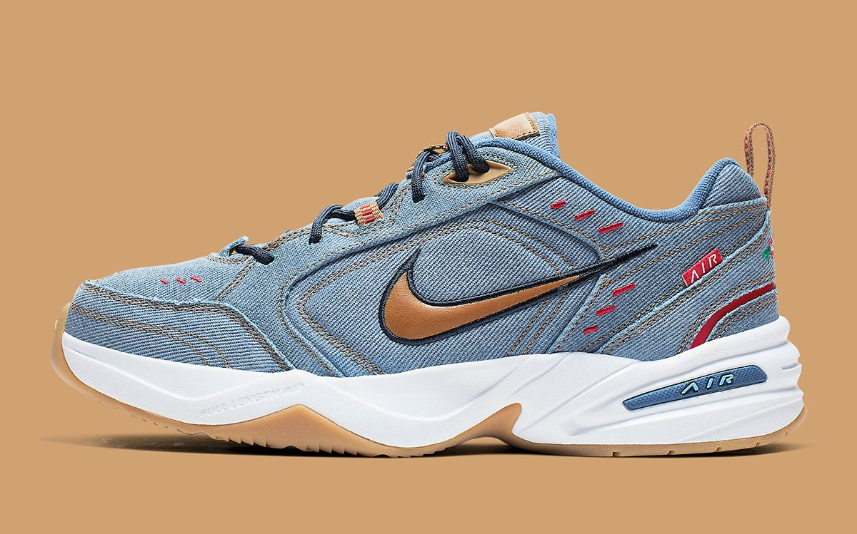 Available Now // The Nike Air Monarch Goes Full-Dad in Denim
