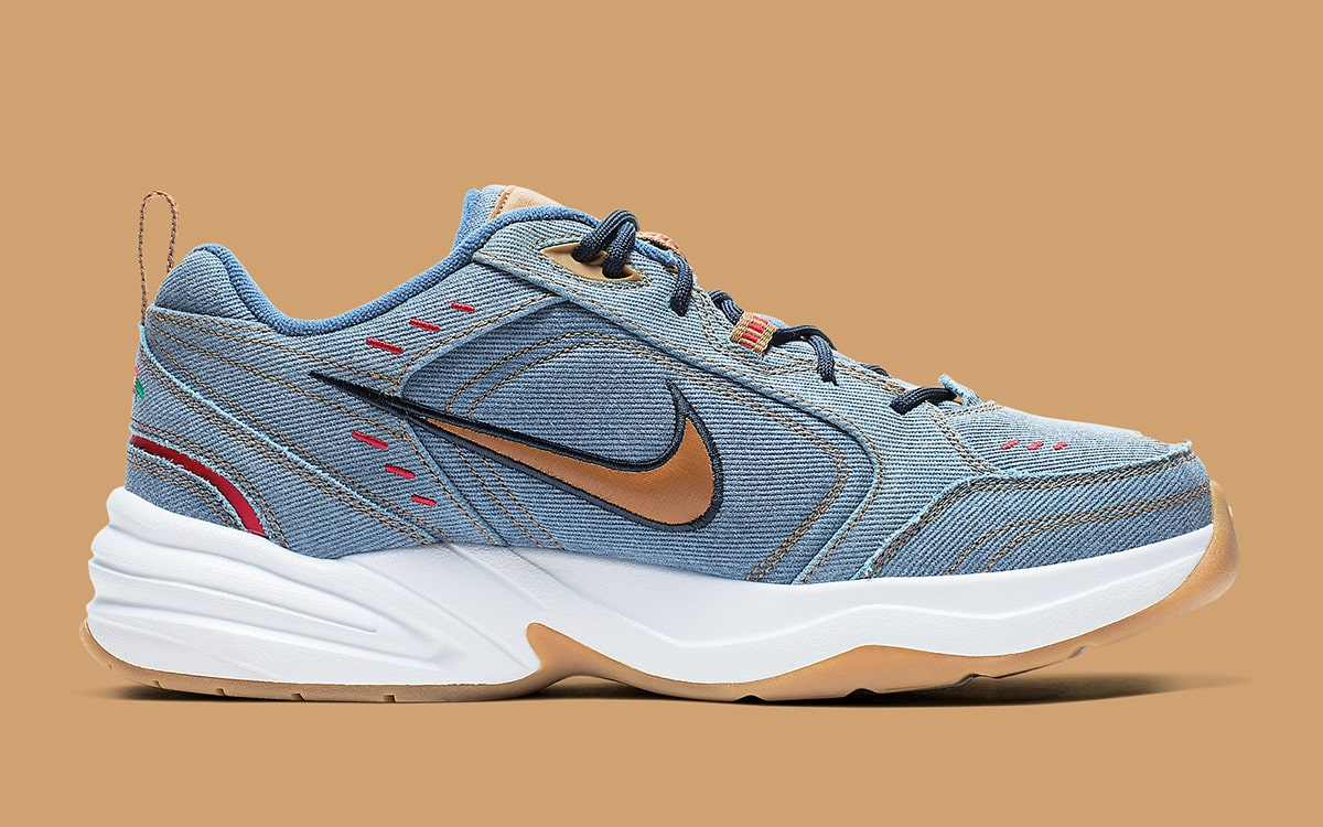 Available Now The Nike Air Monarch Goes Full Dad in Denim