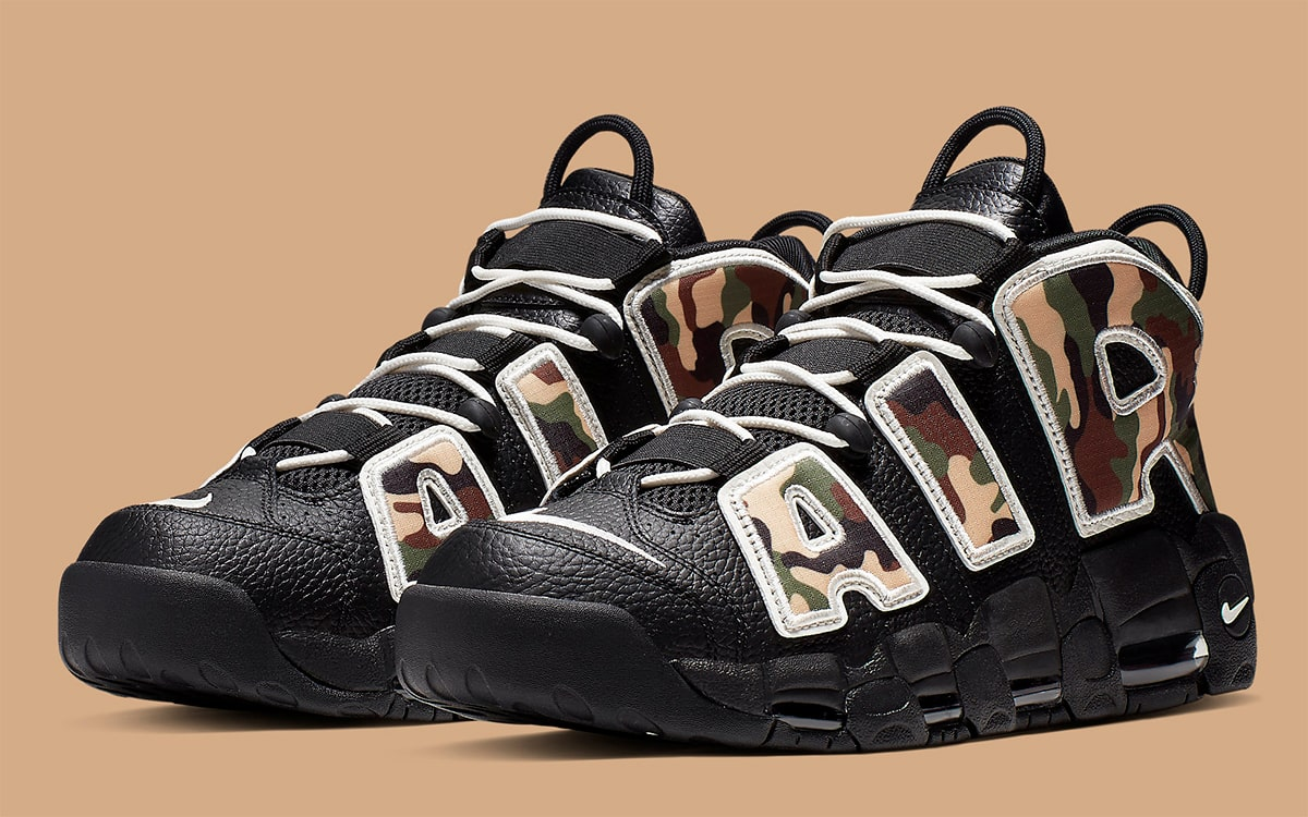 The Camo-Covered Nike Air More Uptempo