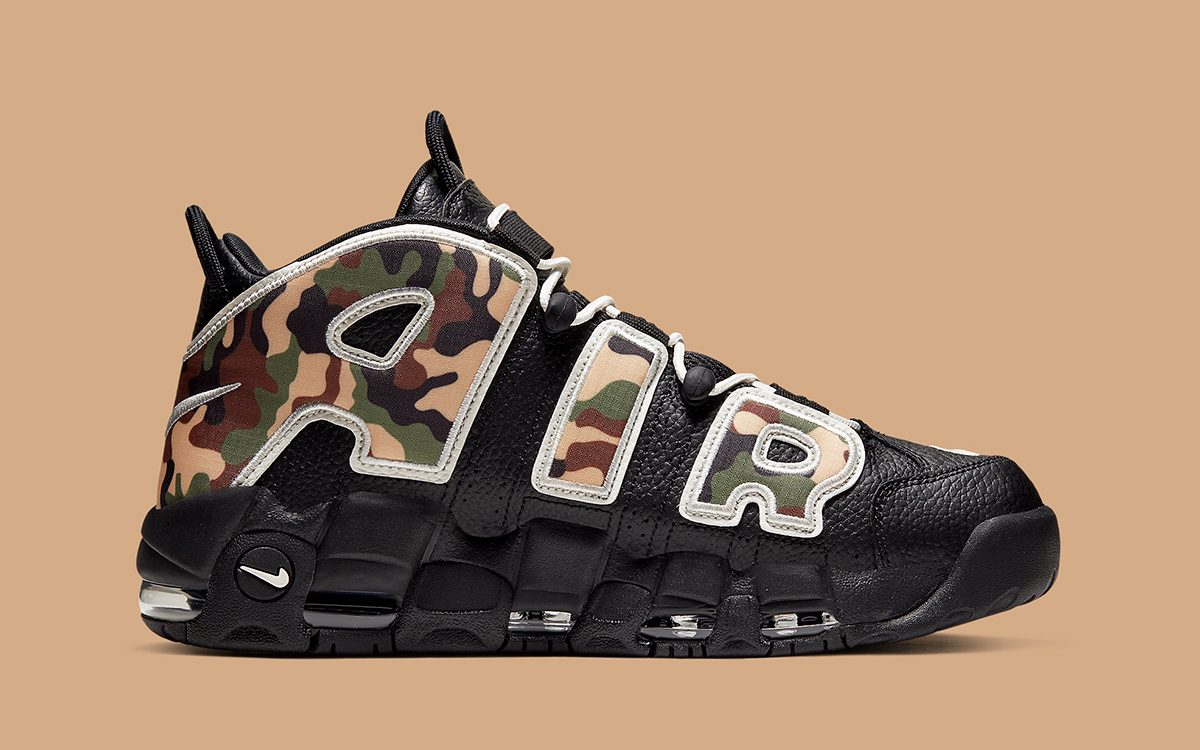 The Camo-Covered Nike Air More Uptempo Drops Today!