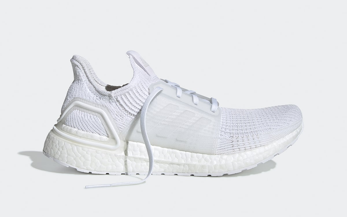 best website 993a6 dba84 The adidas Ultra BOOST 19 in Staple Black and White are ...