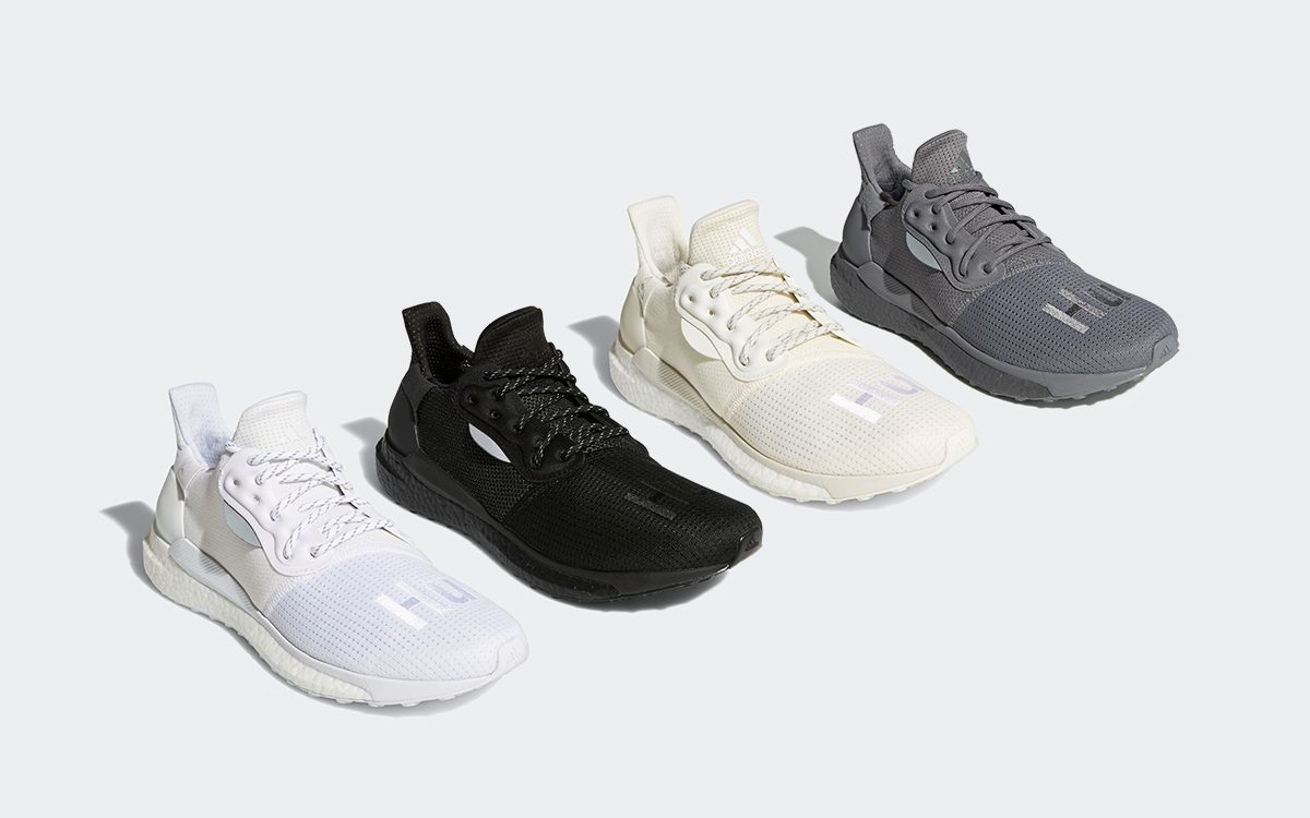 adidas' Summer of Solar Hu Kicks-Off with Four Achromatic Offerings