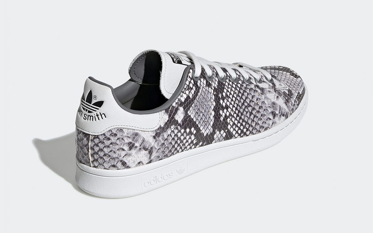best website 013b9 7c2bf The adidas Stan Smith Surfaces in Sleek Sliver Snakeskin ...