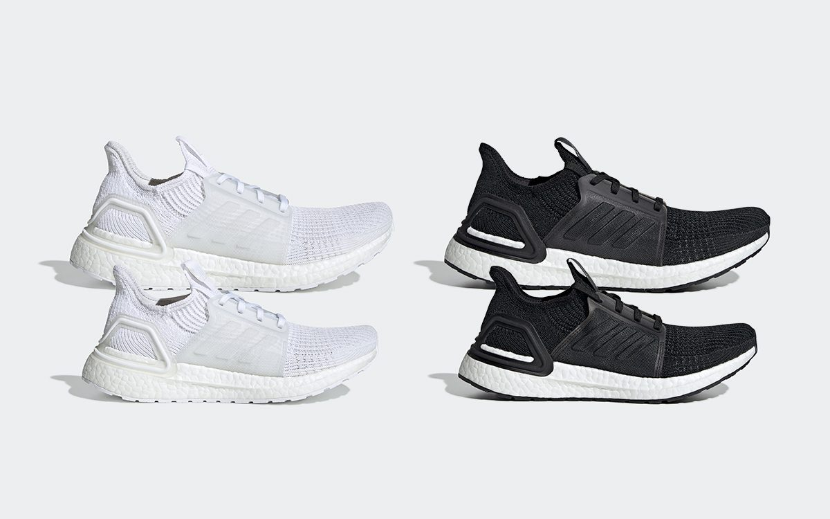 The adidas Ultra BOOST 19 in Staple Black and White are Available Now for Both Men and Women!