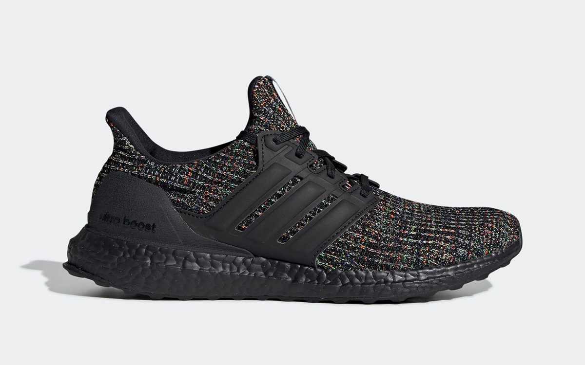 The adidas Ultra BOOST Appears in Black/Multi-Colored Primeknit