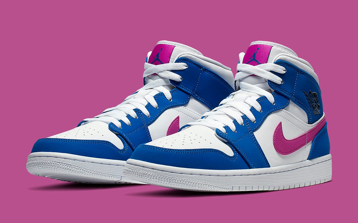 Get Hyped over these Hyper Royal/Hyper Violet Air Jordan 1 Mids!