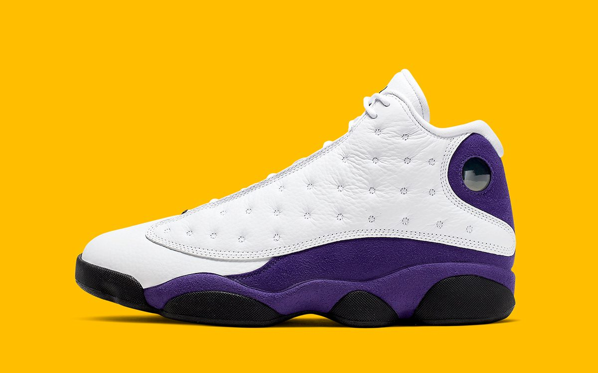 "Official Looks at the ""Lakers"" Air Jordan 13"
