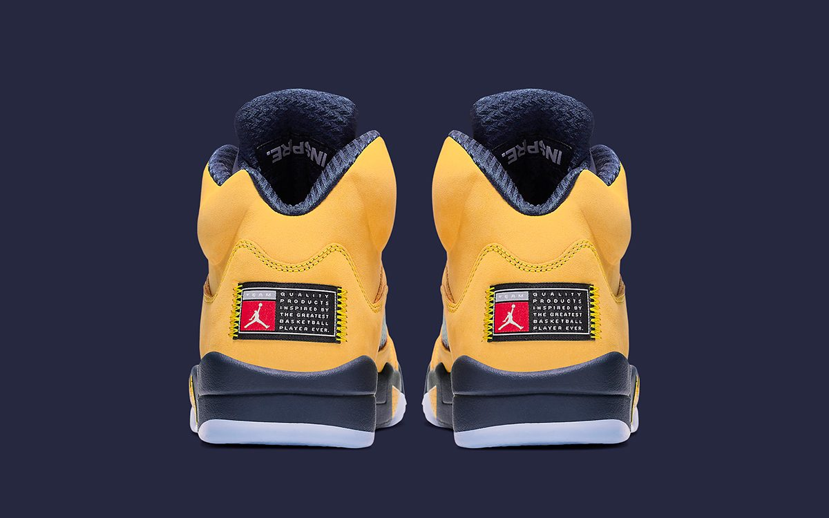 "Official Looks at This Weekend's ""Michigan"" Air Jordan 5"