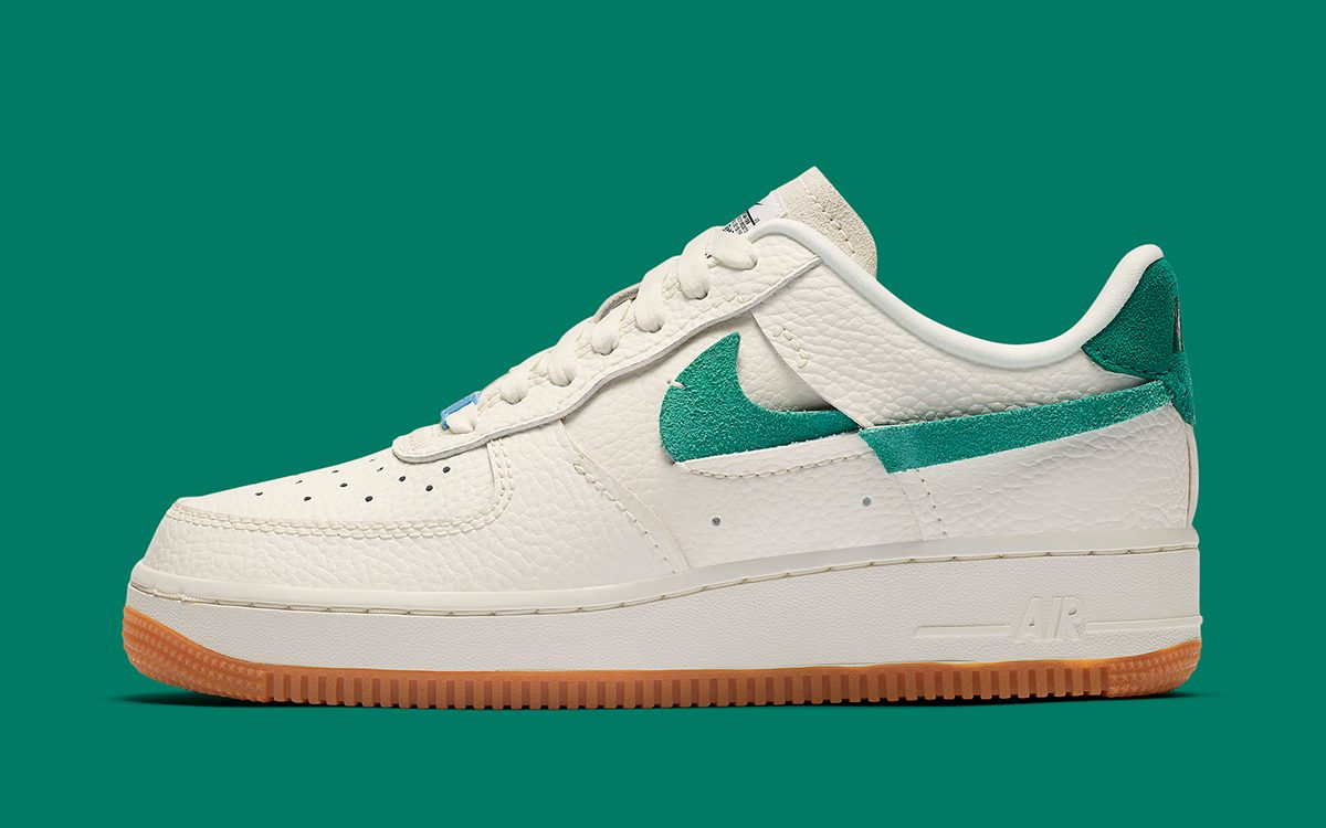 A Fourth Flipped Nike Air Force 1 Vandalized Appears in Sail