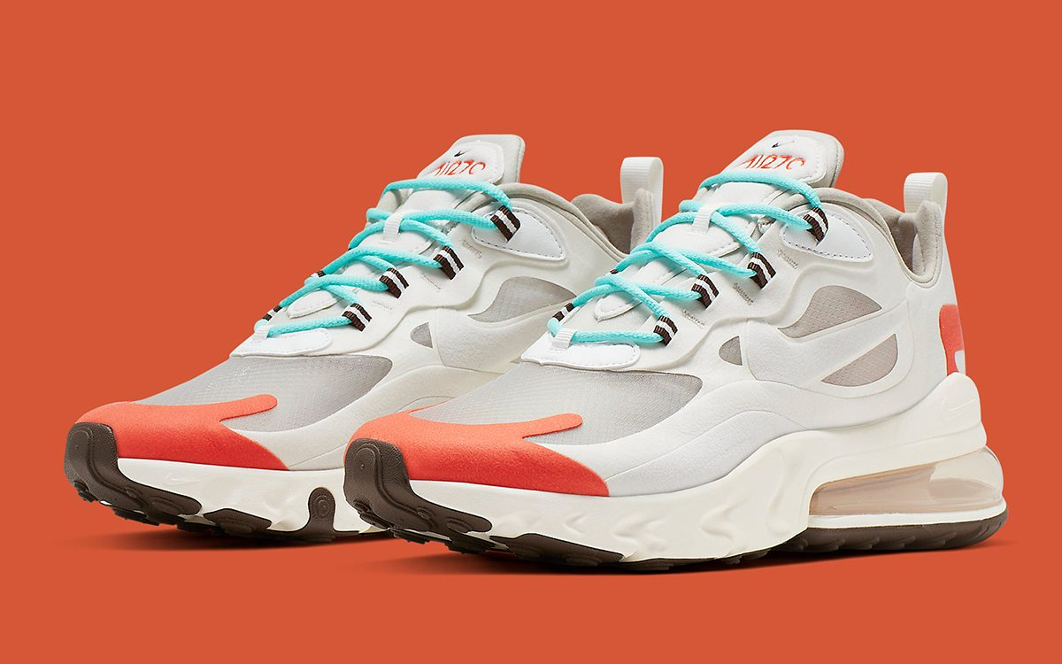 air max 270 react white orange