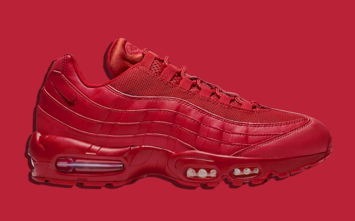 Available Now // The Air Max 95 Takes on Triple Red , HOUSE