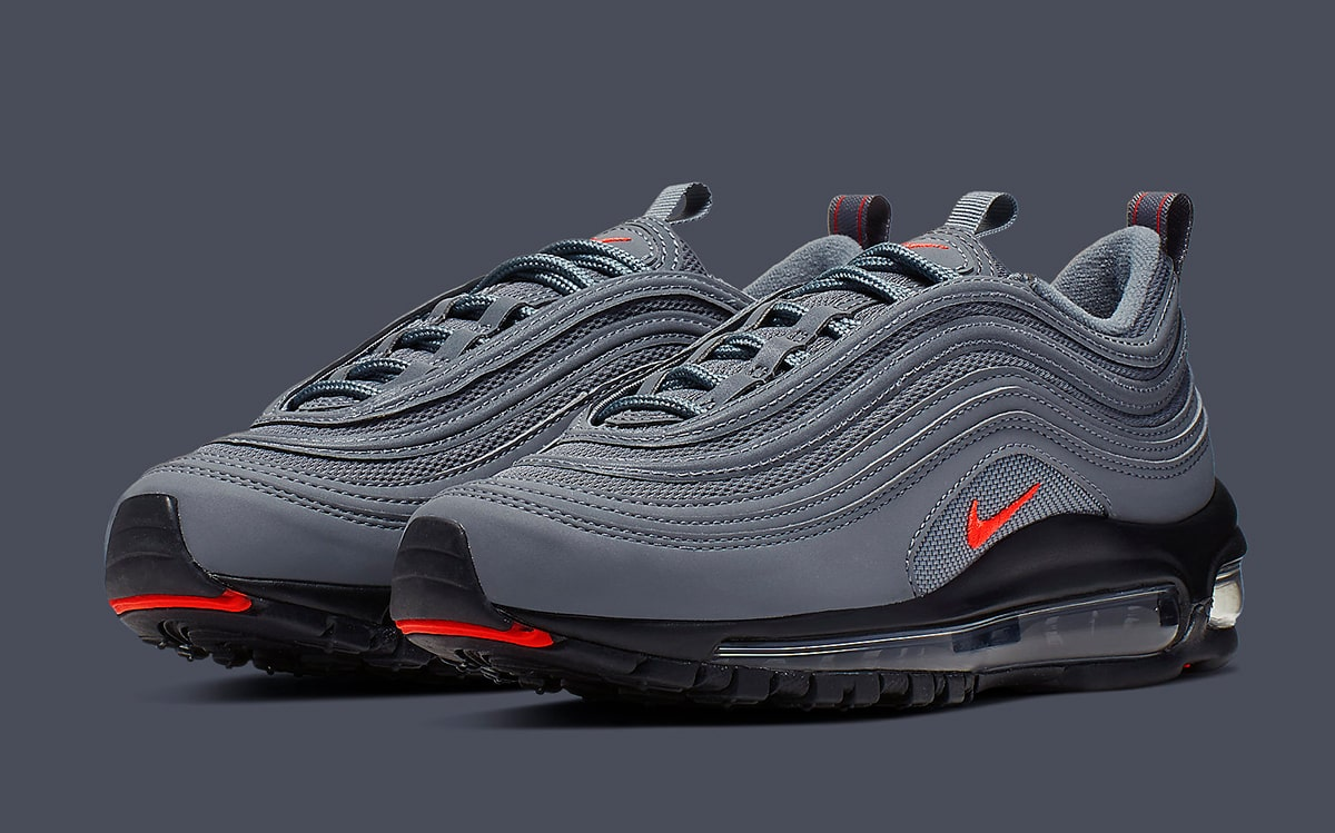 finest selection 75573 bcda5 Available Now // Nike Air Max 97 GS in Grey, Black and ...