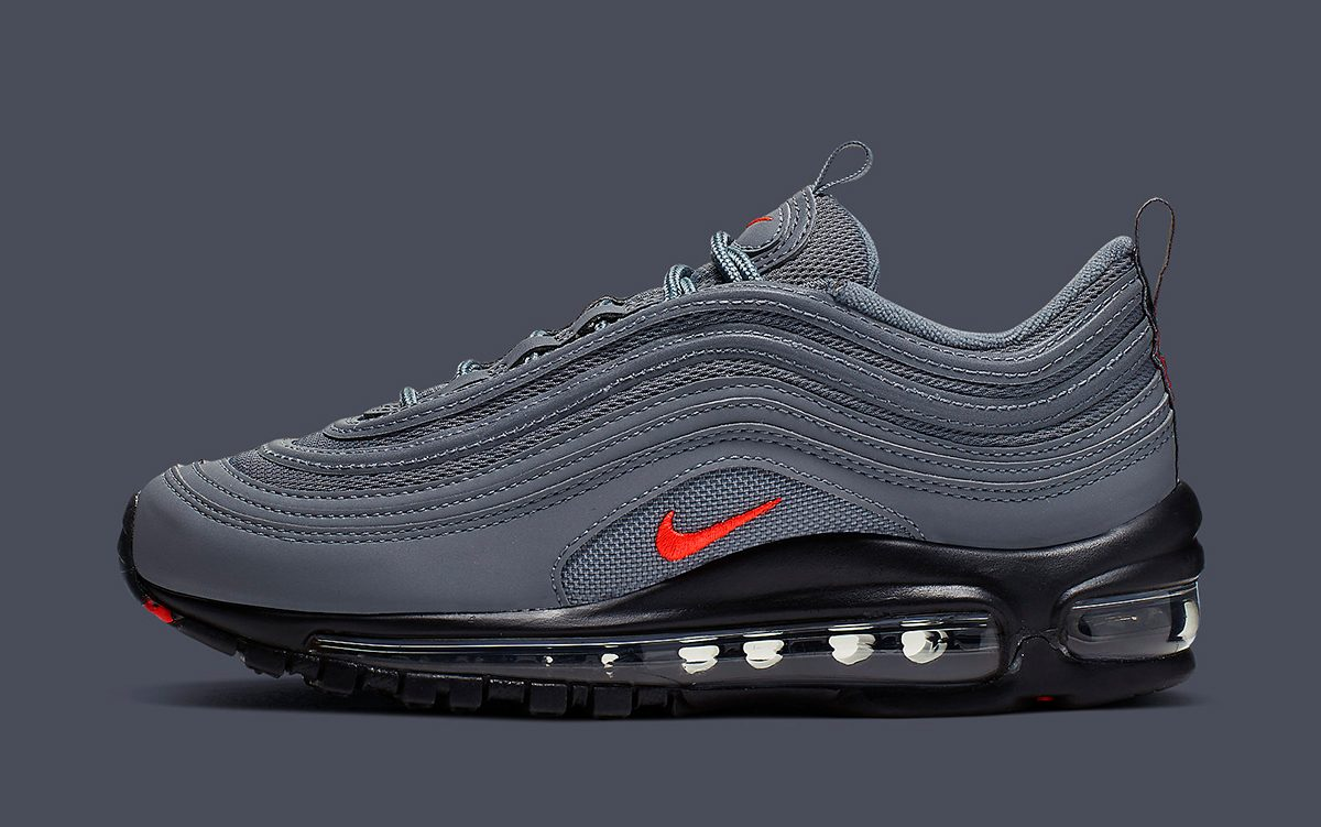 finest selection 1569c 6cd86 Available Now // Nike Air Max 97 GS in Grey, Black and ...