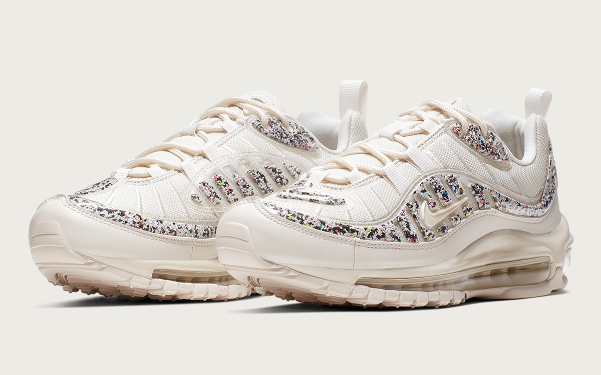 Available Now! // The Nike Air Max 98 Rocks Rubberized Pebble Overlays