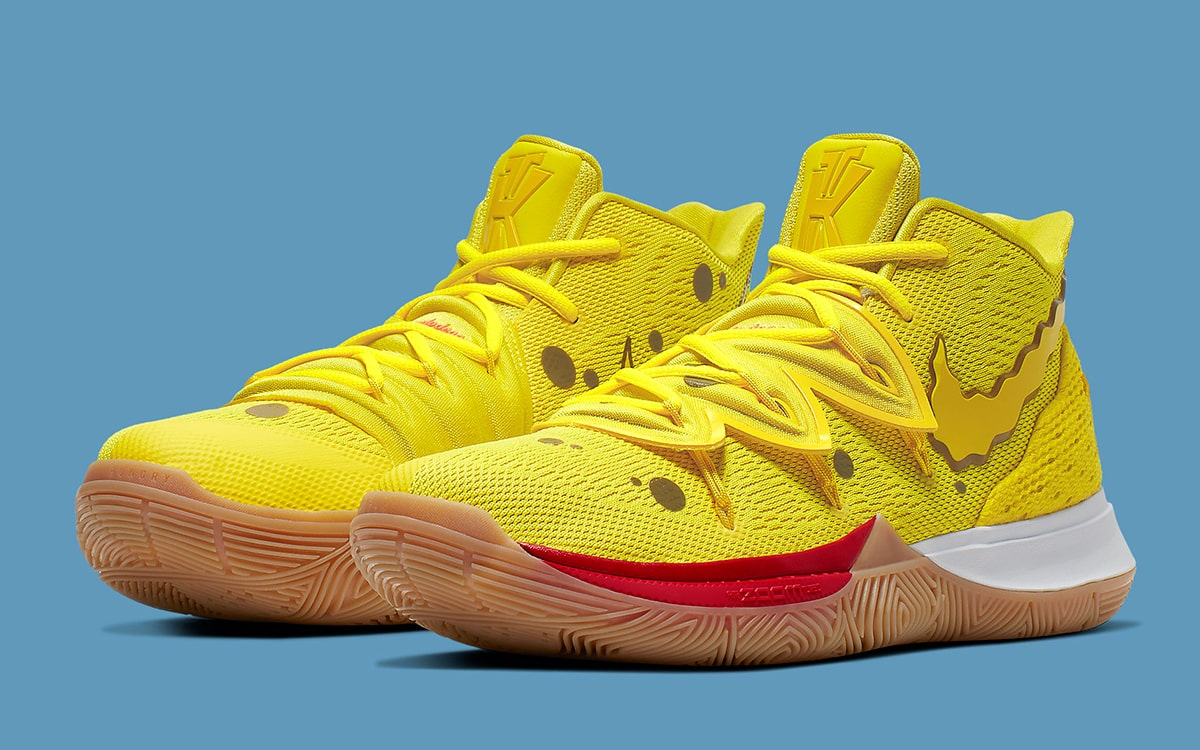 Where to Buy the Entire 5,Piece SpongeBob x Nike Kyrie 5