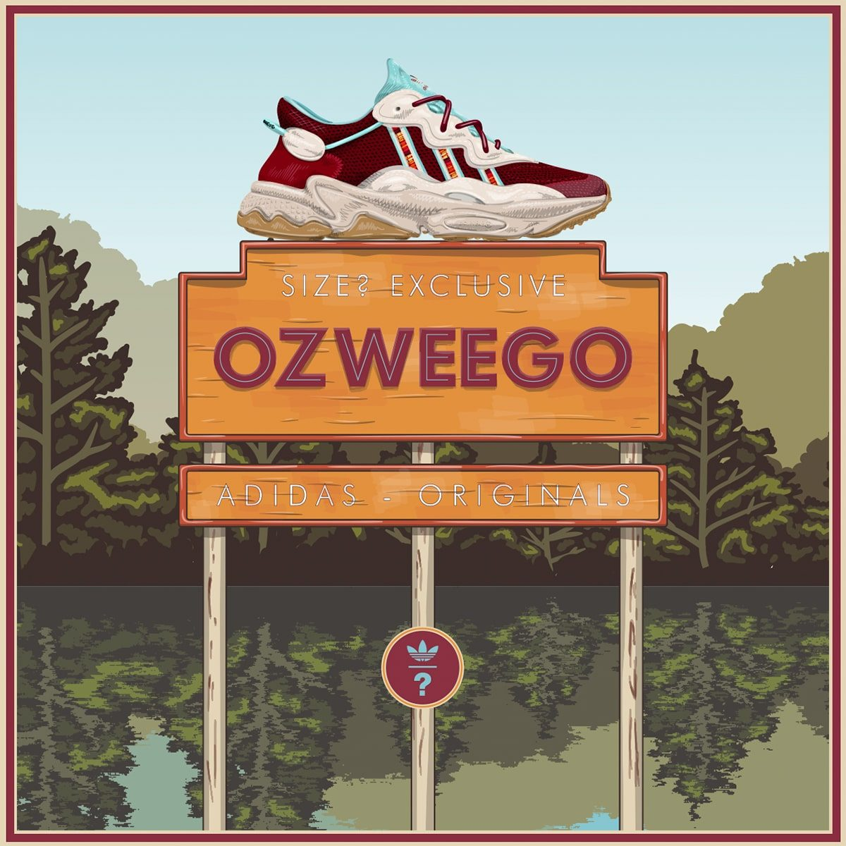 "UK Retailers size? Team Up with the Trefoil for a Special-Edition ""Lake Ozweego"" adidas Ozweego"