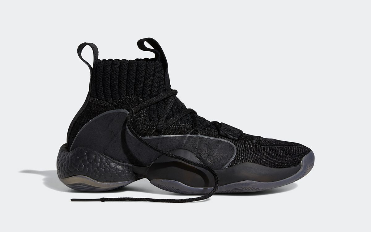Available Now // Translucent-Toe Triple Black adidas Crazy BYW X