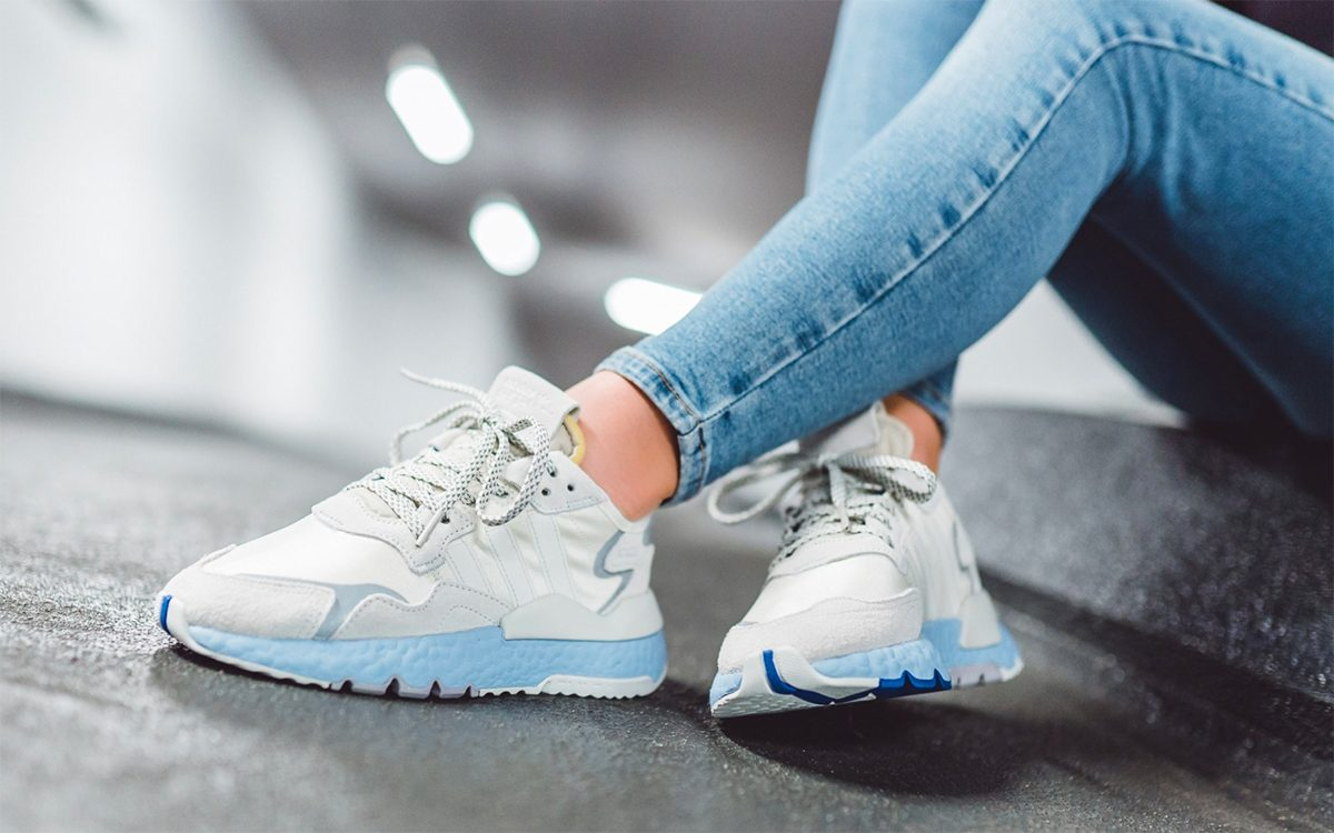 "Available Now // adidas Nite Jogger ""Glow Blue"""