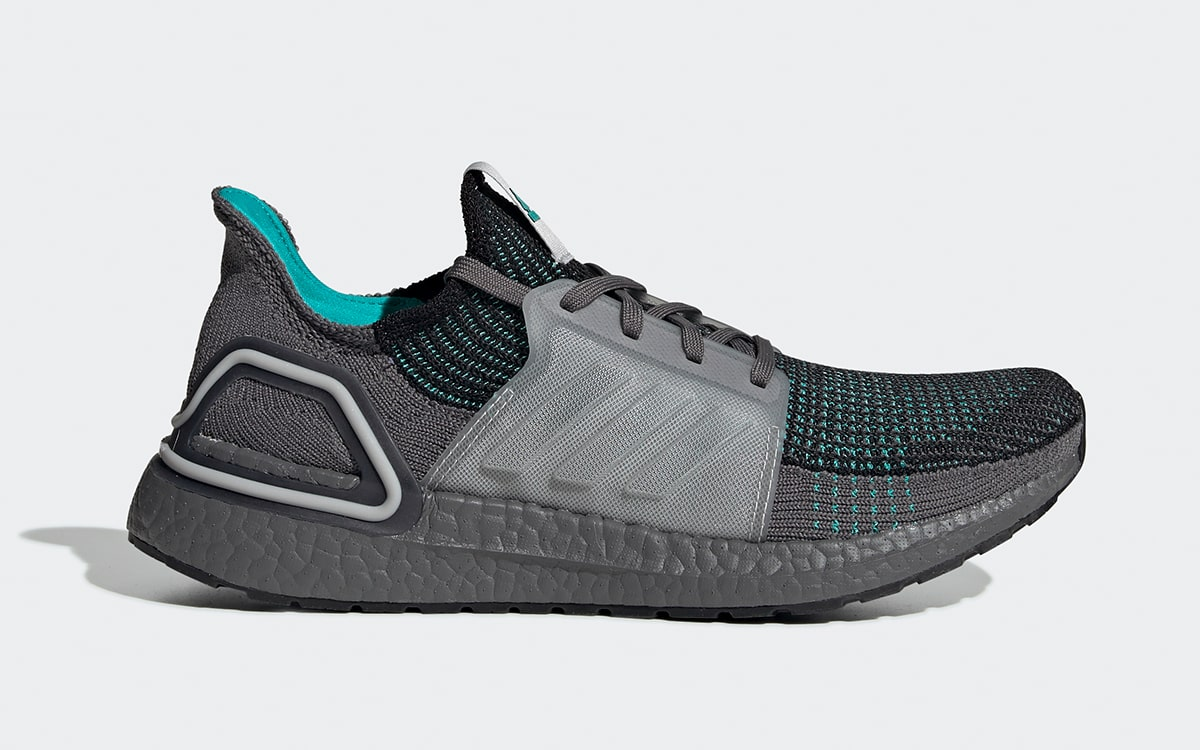 The Adidas Ultra Boost 19 Takes On A Teal And Grey